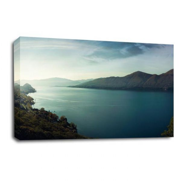 Landscape Mountain Forest Lake Canvas Art Wall Picture Print